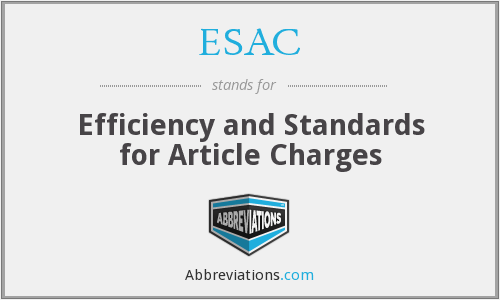 ESAC - Efficiency and Standards for Article Charges