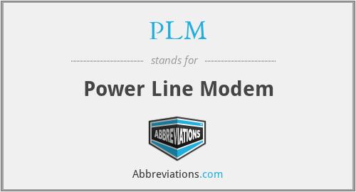 PLM - Power Line Modem