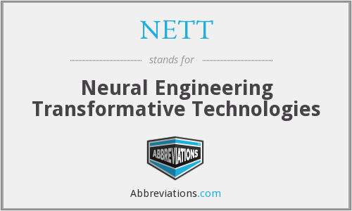 What does NETT stand for?