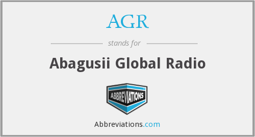 AGR - Abagusii Global Radio