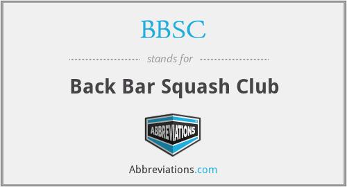 BBSC - Back Bar Squash Club