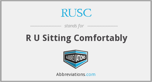 What does RUSC stand for?