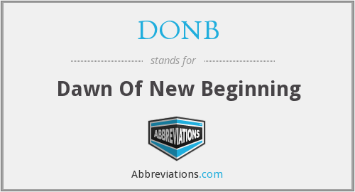 What does DONB stand for?