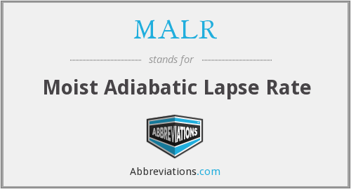 MALR - Moist Adiabatic Lapse Rate