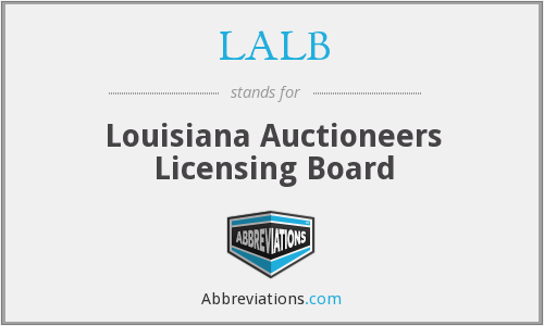 LALB - Louisiana Auctioneers Licensing Board