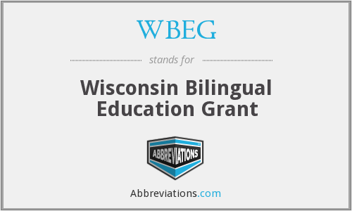 WBEG - Wisconsin Bilingual Education Grant