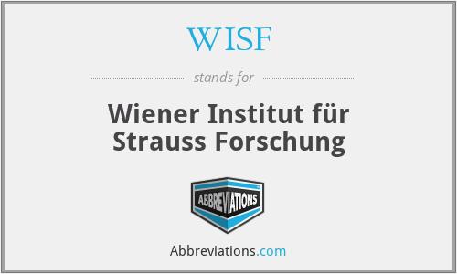 WISF - Wiener Institut für Strauss Forschung