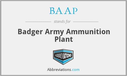 BAAP - Badger Army Ammunition Plant
