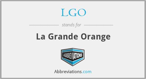 LGO - La Grande Orange
