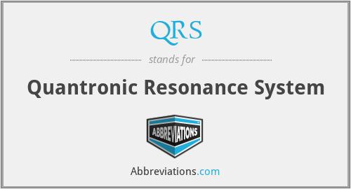 QRS - Quantronic Resonance System