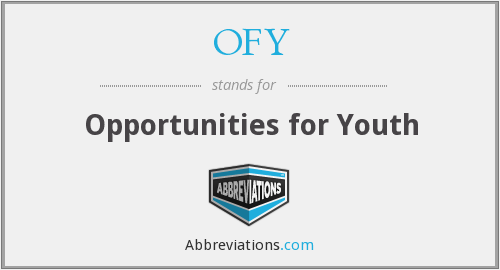 OFY - Opportunities for Youth
