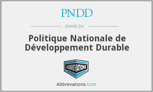 What does PNDD stand for?