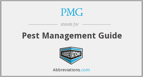 PMG - Pest Management Guide