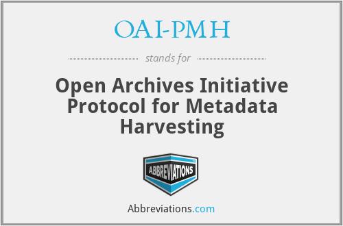 OAI-PMH - Open Archives Initia...