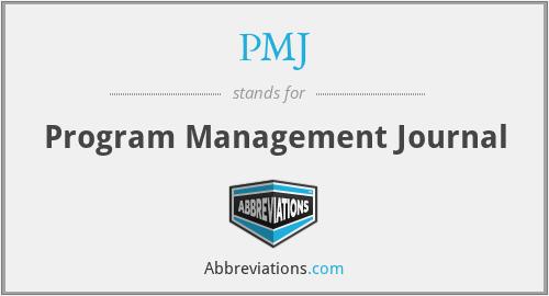 PMJ - Program Management Journal