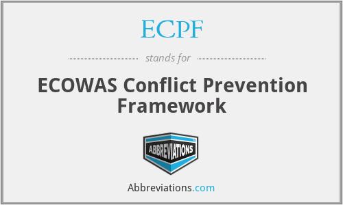 ECPF - ECOWAS Conflict Prevention Framework
