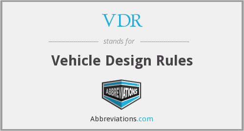 VDR - Vehicle Design Rules