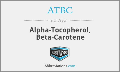 ATBC - Alpha-Tocopherol, Beta-Carotene