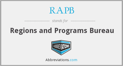 What does RAPB stand for?