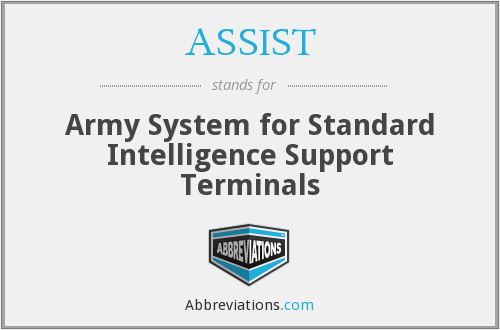 ASSIST - Army System for Standard Intelligence Support Terminals