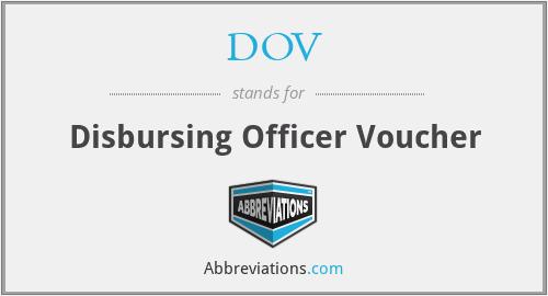 DOV - Disbursing Officer Voucher