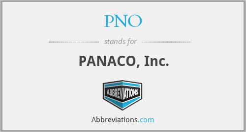 PNO - PANACO, Inc.