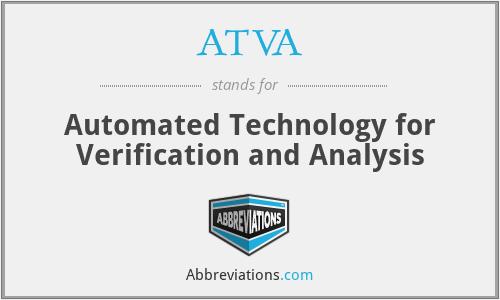 ATVA - Automated Technology for Verification and Analysis