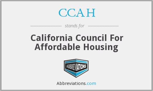 CCAH - California Council For Affordable Housing