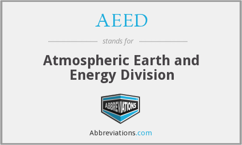 AEED - Atmospheric Earth and Energy Division