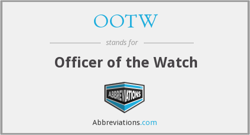 What does OOTW stand for?
