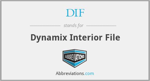 DIF - Dynamix Interior File