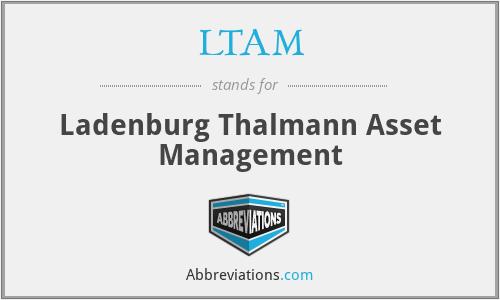 ladenburg thalmann asset management LTAM - Ladenburg Thalmann Asset Management