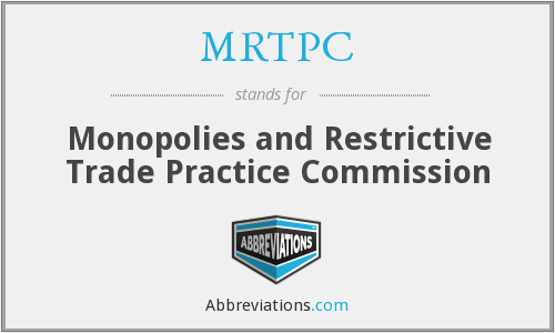 What does MRTPC stand for?