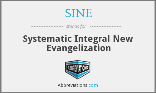 SINE - Systematic Integral New Evangelization
