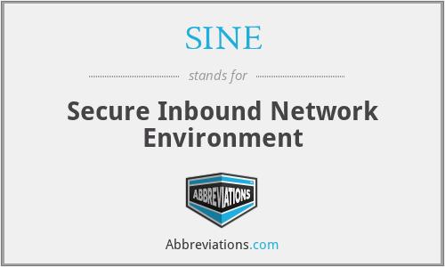 SINE - Secure Inbound Network Environment