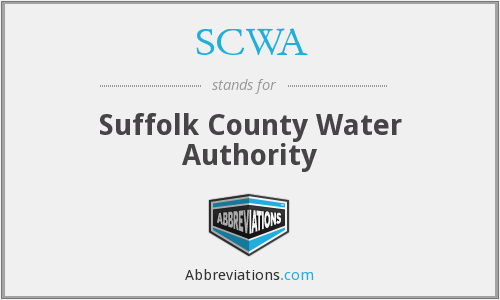 SCWA - Suffolk County Water Authority