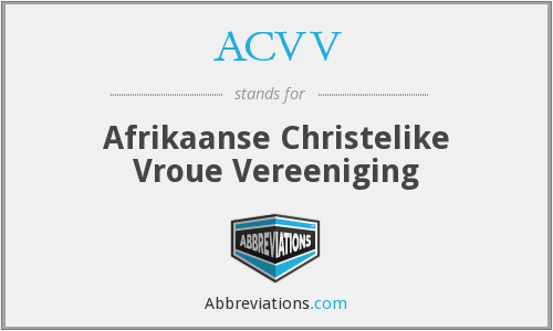 What does ACVV stand for?