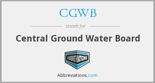 What does CGWB stand for?