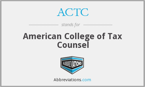 What does ACTC stand for?