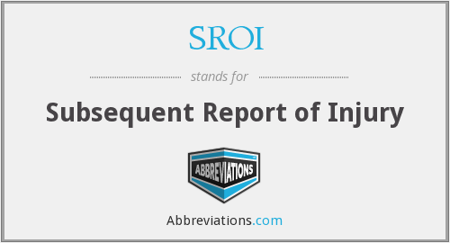 What does SROI stand for?