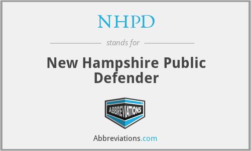 NHPD - New Hampshire Public Defender