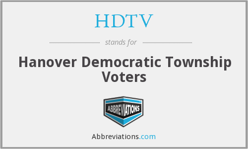 HDTV - Hanover Democratic Township Voters
