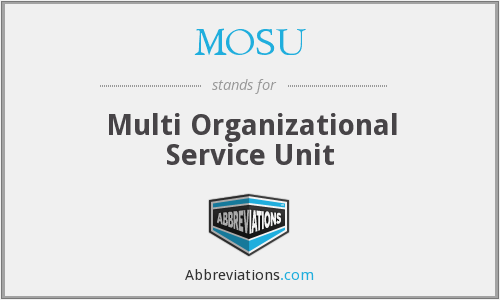 What does MOSU stand for?