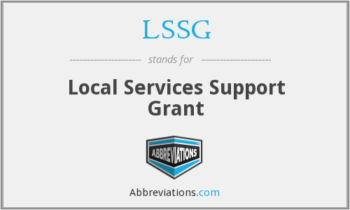 LSSG - Local Services Support Grant