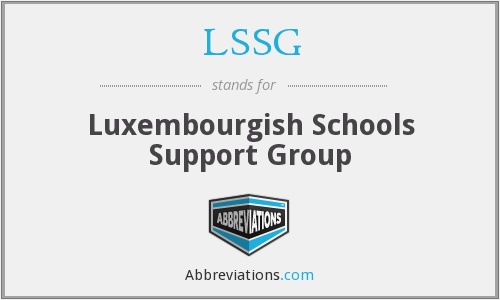 LSSG - Luxembourgish Schools Support Group