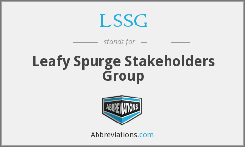 LSSG - Leafy Spurge Stakeholders Group