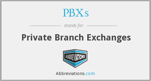 PBXs - Private Branch Exchanges