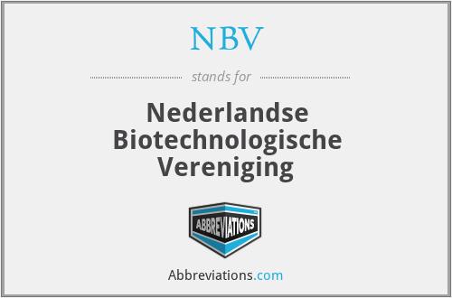 NBV - Nederlandse Biotechnologische Vereniging