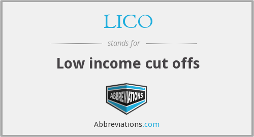 LICO - Low income cut offs