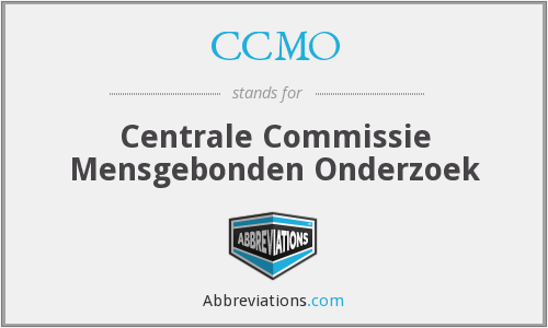 What does CCMO stand for?